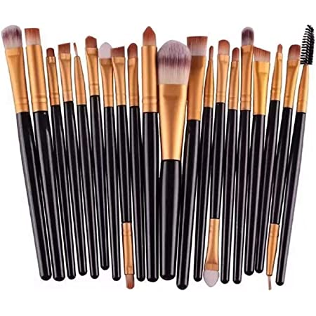 NEJLSD Eye Makeup Brushes Set 20, Eyeliner Eyeshadow Blending Brush,  Wool Make Up Brush Set ,Powder Face Foundation Eyeshadow Eyeliner Lip Cosmetic Brushes