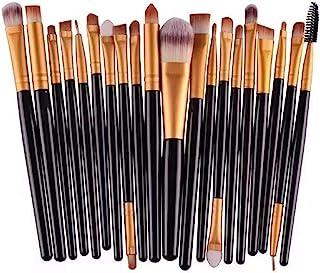 NEJLSD Eye Makeup Brushes Set 20, Eyeliner Eyeshadow Blending Brush, Wool Make Up Brush Set ,Powder Face Foundation Eyeshadow Eyeliner Lip Cosmetic Brushes