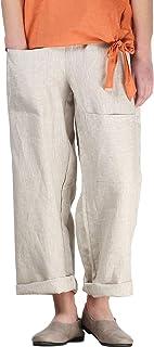 Iximo Womens Linen Pants