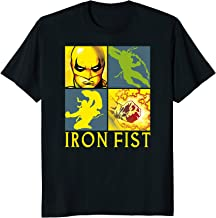 Marvel Iron Fist The Immortal Weapon Squared Graphic T-Shirt