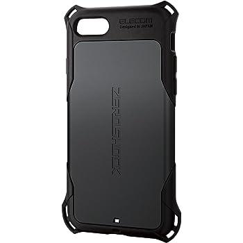 エレコム iPhone 8 ケース カバー 衝撃吸収 【 落下時の衝撃から本体を守る 】 ZEROSHOCK スタンダード 衝撃吸収 フィルム付 iPhone 7 対応 ブラック PM-A17MZEROBK