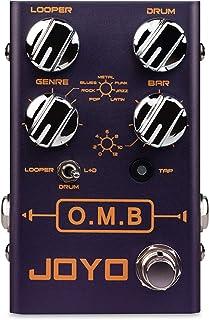 Joyo R-06 O.M.B Looper/drum, 40 minutos de cooperación, sincronizada con los patrones de batería integrados en diferentes estilos, como tu propia banda de un hombre (OMB).