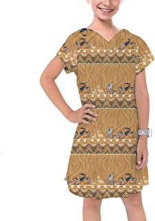 Rainbow Rules Lion King Friends Tribal Disney Inspired Girls Cotton Hoodie Dress Drop Waist