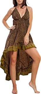 Toocool - Vestito Donna Abito Asimmetrico Gipsy Ibiza Etnico Boho Chic RK-102