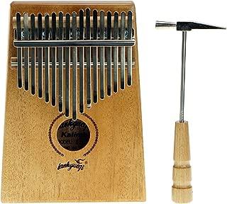 17 Key Mahogany Kalimba African Thumb Piano Finger Percussion Keyboard Portable Music Instrument Key C