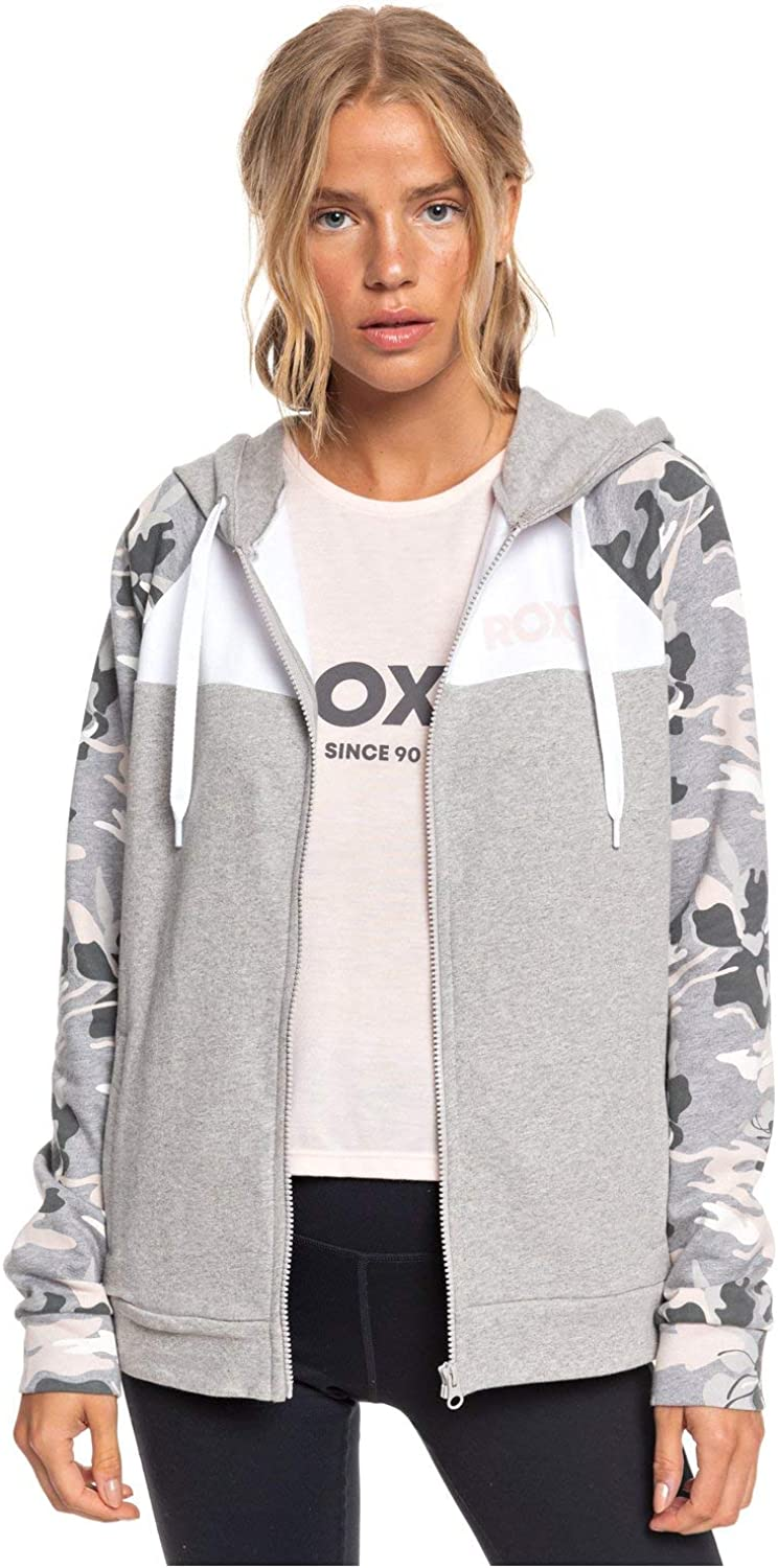 Roxy After The Fall Zipped Hoody in Heritage Heather