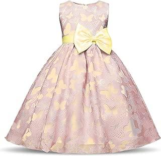 Flower Christmas Girl Dress Wedding Princess Tutu Party Events Dresses for Teenage Girl Dress Ceremonies Kids Children Clothes,Blue,4T