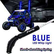 NF NIGHTFIRE LED Whip Blue 5FT Flag Pole Light w/Quick Release Shock-absorbing Spring ATV Safety Flags Lighted Antenna Light Whips for RZR UTV Quad Buggy Whips (One Unit) Promotion from Columbus Day