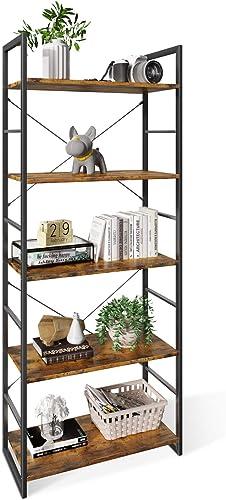 ODK Bookshelf, Tall Bookcase Shelf, Free Standing Units, Modern Book Shelf for Bedroom, Living Room and Home Office