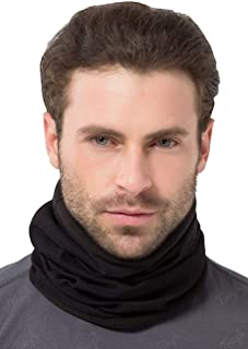 Fleece Neck & Ear Warmer - Reversible Neck Gaiter, Mask, Headband & Beanie