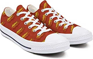 Mens Preston-fire-Hoodie-red-Orange-Logo- The Best Style Canvas Sneakers Limited Edition Nice Print Low-top Shoes
