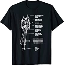 Bell UH-1 Iroquois Blueprint Helicopter Engineer Gift Shirt