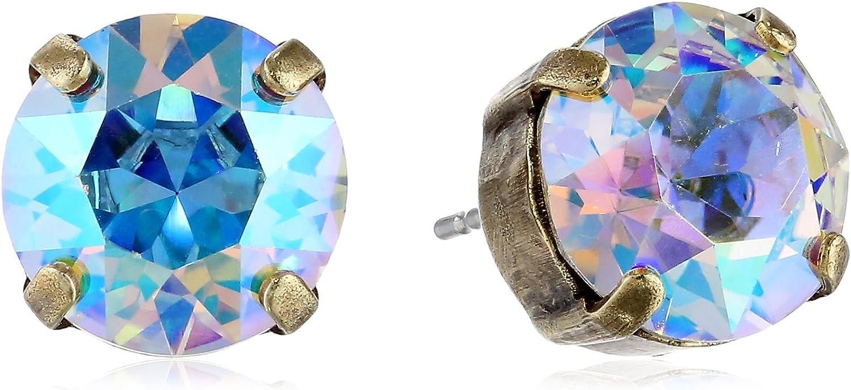 Sorrelli Essentials Round Crystal Stud Earrings