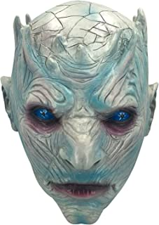 Game of Thrones Night's King White Walker Men's Full Head Mask Halloween Costumes mask Scary Mask for Men Adult Horror Theme Party Halloween Costume Night's King Latex Mask Prop