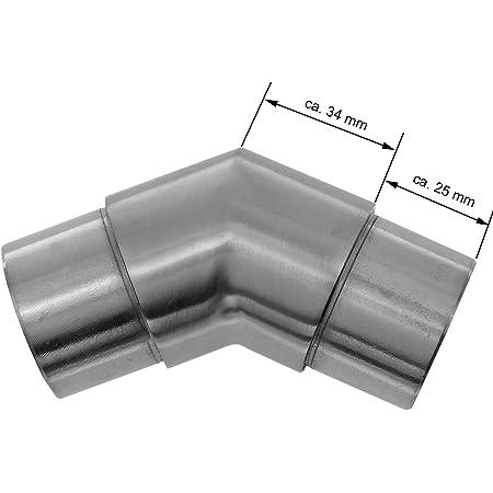 andere L/ängen bis 6 m auf Anfrage m/öglich Edelstahlrohr V2A Edelstahl Gel/änder Rohr Rundrohr geschliffen Korn 240 verschiedene Durchmesser und L/ängen D=25x2 mm/², L/änge 1700 mm - 170 cm