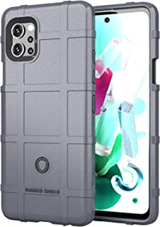 Wuzixi Case for LG Q92 5G.Soft silicone sleeve design, shockproof and durable, Cover Case for LG Q92 5G.(Gray)