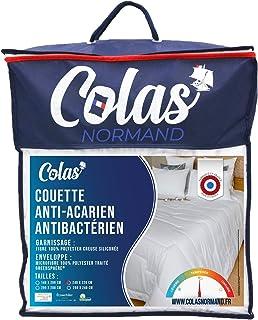 Colas Normand, Couette Anti Acariens et Antibactériens, Tempérée , 240x220 cm, Action longue durée, Hygiène parfaite, Micr...