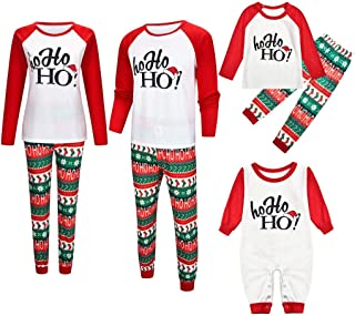 Forthery Christmas Family Pajama Set, Matching Xmas Pjs Sleepwear for Dad Mom Kid Infant
