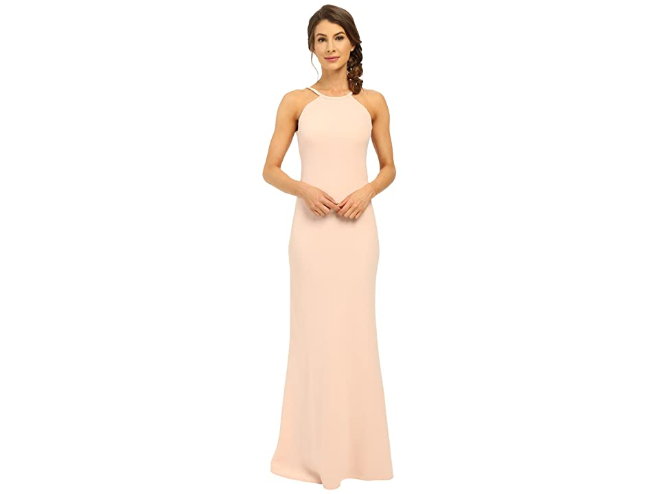Calvin Klein Halter Neck Back Less Gown CD6B1850 (Petal) Women