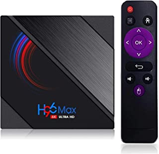 Android 10.0 TV-box, H96 Max H616 2021 Upgraded BT 4.2 RAM 4 GB DDR3 64 GB ROM Quad-Core-ondersteuning 4K Ultra HD / H.265...