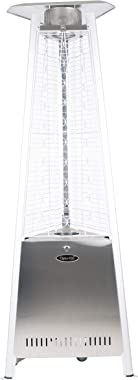 "Dyna-Glo DGPH402SS 42,000 BTU 73"" Stainless Steel Pyramid Flame Patio Heater, Silver"