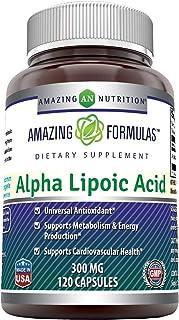 Amazing Formulas Alpha Lipoic Acid * 300mg 120 Capsules Per Bottle (Non-GMO,Gluten Free) * Pure ALA Capsules - Ideal Formu...