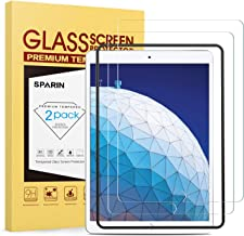 [2-Pack] SPARIN Protector Pantalla iPad 10.2 2019 / iPad Air 10.5 2019 / iPad Pro 10.5 2017 / iPad Air 3, Vidrio Templado [herramienta de fácil instalación] [Resistente a Arañazos] [Sin Burbujas]