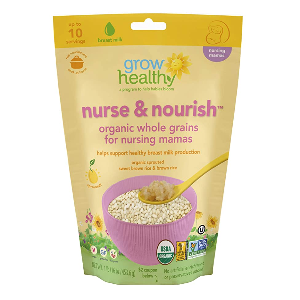 Nurse & Nourish Organic Whole Grains for Nursing Mamas | Helps support healthy breastmilk production | Sprouted, Organic, Vegan, Gluten free, USA grown, No artificial enrichment or preservatives