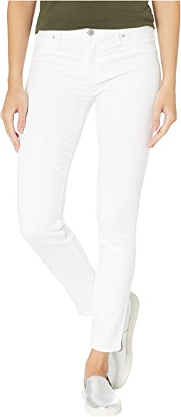 Nico Mid-Rise Skinny Five-Pocket Jeans in White