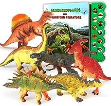 ألعاب Olefun للديناصور لعمر 3 سنوات فما فوق - كتاب صوت الديناصور و 12 شخصية ديناصور واقعية المظهر بما في ذلك T-Rex, Triceratops, Utahraptor, هدايا مثالية للأطفال والأولاد والبنات