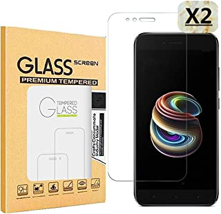 Haikingmoon Cristal Templado Xiaomi Mi 5X,[2 Piezas] Ultrafino Fácil de Instalar Contiene Herramientas de Limpieza Dureza 9H Vidrio Protector Pantalla para Xiaomi Mi 5X / Mi A1