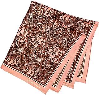 ポケットチーフ シルクチーフ メンズ 紳士 英国製 Silk ターンブル&アッサー Turnbull&Asser 大判 Pink/Paisley Size45x45cm C013