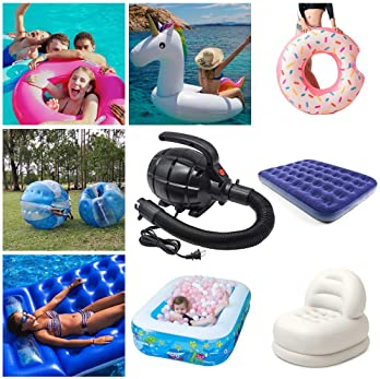 240v MAINS ELECTRIC PUMP INFLATABLE SWIMMING POOL BED MATTRESS TOYS GYM BALL LK