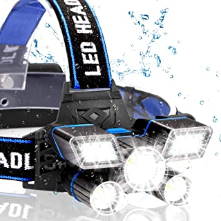 Rechargeable Headlamp, Taiker 13000 Lumen 21 LED Super Bright Flashlight Headlight 9 Modes IPX4 Waterproof USB Rechargeable for Outdoor Camping, Cycling, Running
