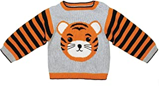 Zubels 100% Hand-Knit Tiger Sweater All Natural Fibers