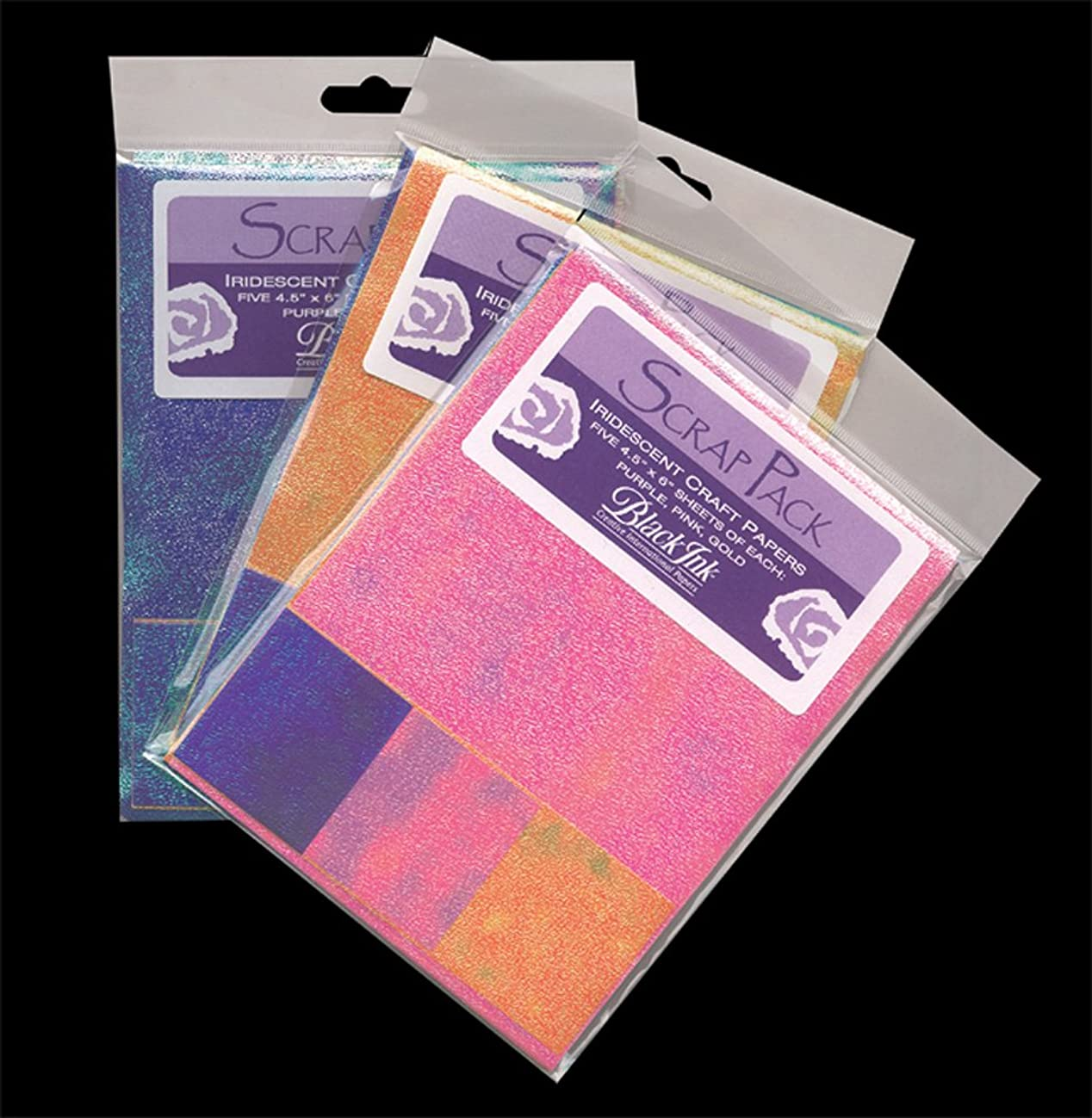 Paper Scrap Pack: Assorted Iridescent Papers