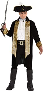 SUIT YOURSELF Treasure Captain Pirate Costume for Men, Standard Size, Includes Jacket, a Hat, a Jabot, a Belt, and More