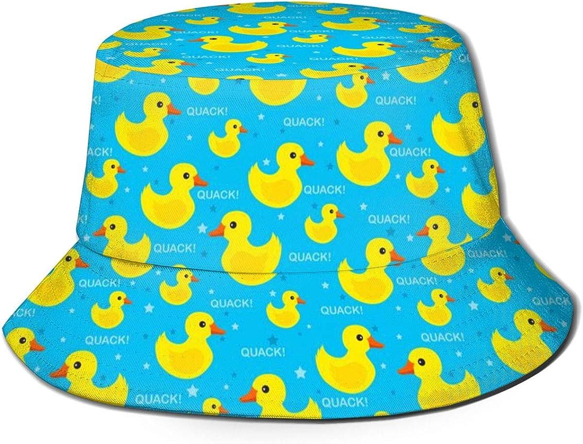 Unisex Fashion Bucket Hat Summer Fisherman Cap Rubber Ducks Sun Hat