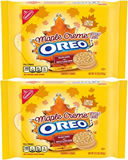 OREO Golden Sandwich Cookies, Limited Edition Maple Flavor Creme (12.2 oz) ( 2 pack )