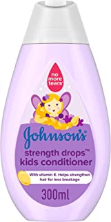 JOHNSON'S Toddler & Kids Conditioner - Strength Drops, Formula Free of Parabens & Dyes, 300ml