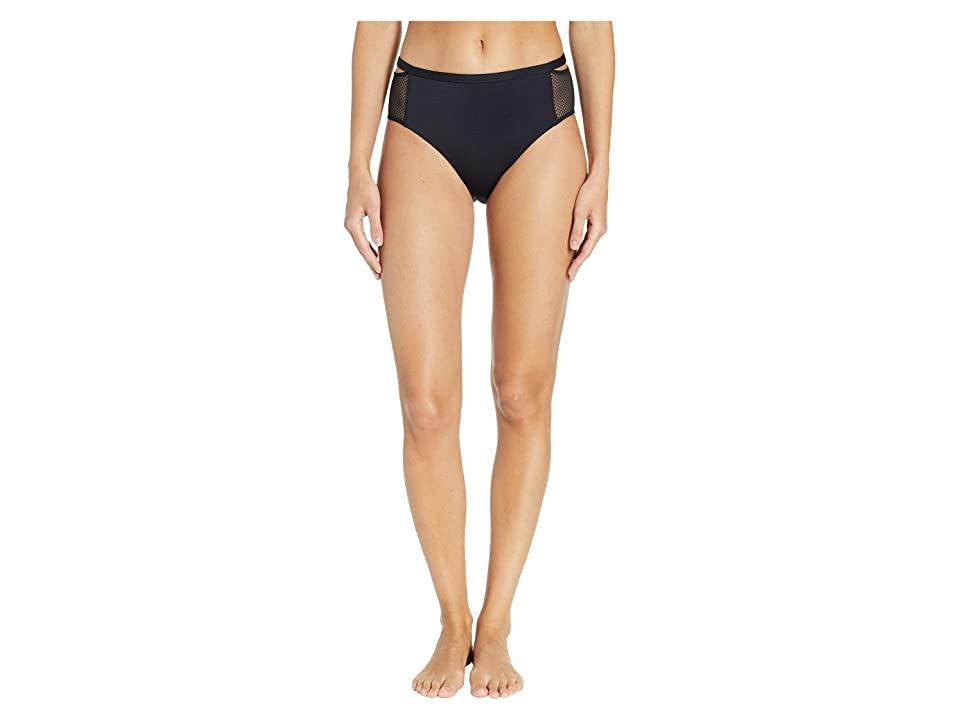 Stella McCartney Alice Singing High Leg Briefs (Black) Women