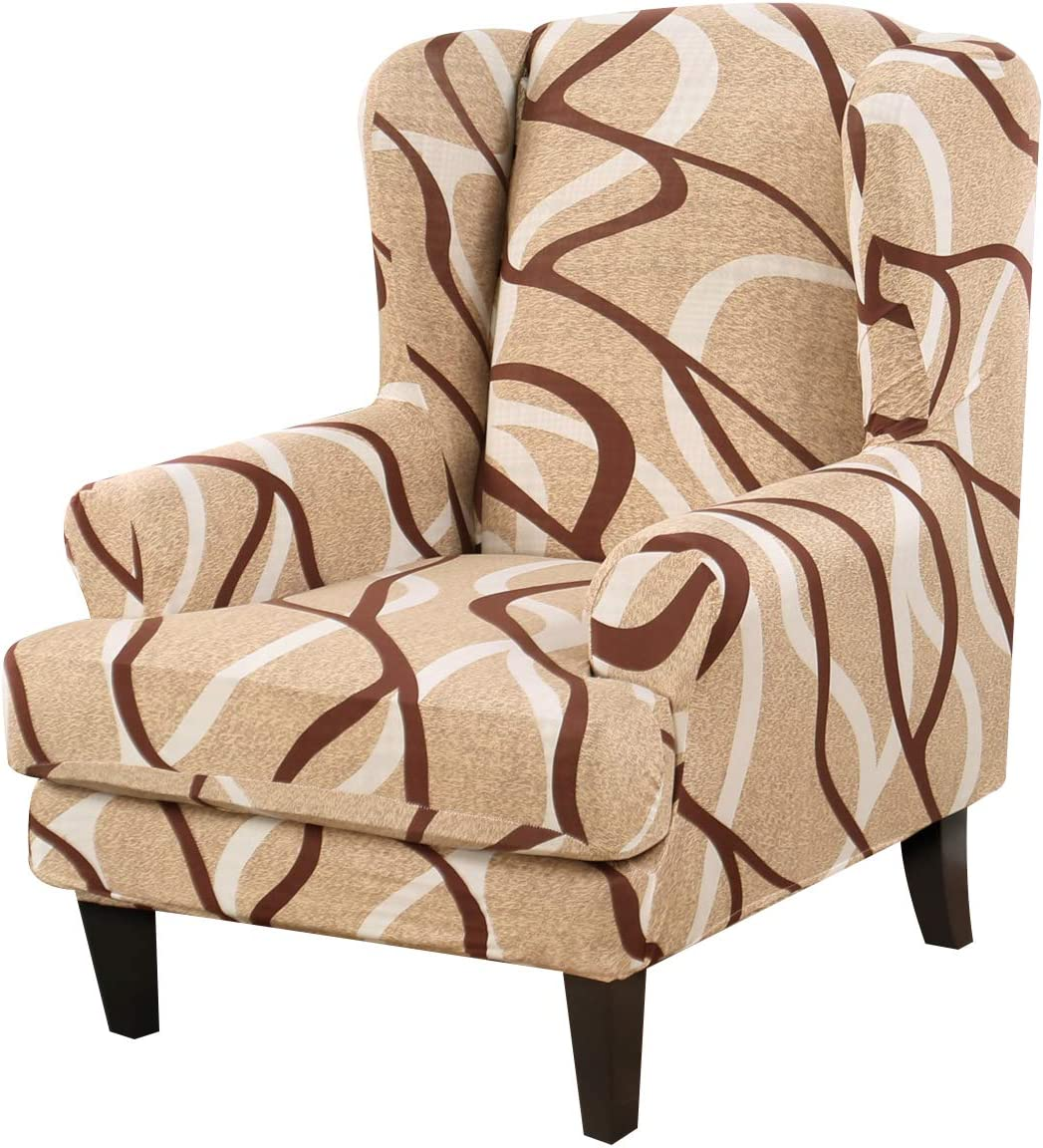 Wing Chair Slipcovers 2-Piece online shopping Covers Sofa OFFicial store Pattern Wingback