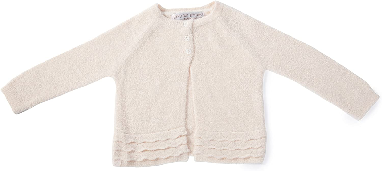 Barefoot Dreams Bamboo Chic LITE Girls Infant Heirloom Cardigan