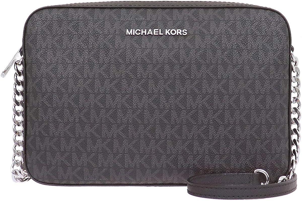 【マイケルコース】MICHAEL KORS ショルダーバッグ 35F8GTTC3B シグネチャー ラージ EW クロスボディー ブラック×ブラック