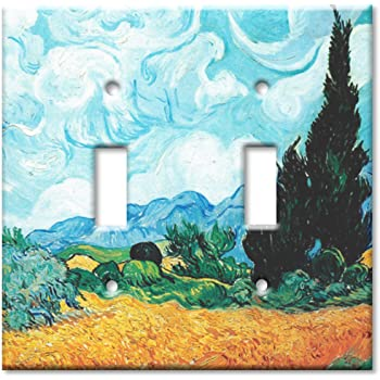 Oleanders Van Gogh Art Plates Single Gang Toggle OVERSIZE Switch Plate//OVER SIZE Wall Plate