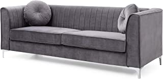 Glory Furniture Delray Sofa, Gray. Living Room Furniture, 32