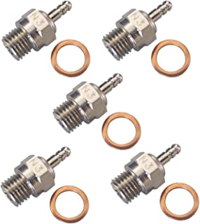 Shaluoman N3 Hot Spark Glow Plug for RC Nitro Engines Car Truck Traxxas Pack of 5