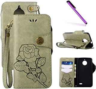 floral embossed leather