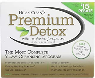 Herbal Clean Premium 7-Day Detox Kit, Detox Capsules, 40 Count