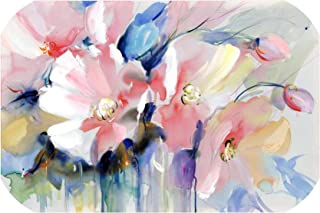Modern Watercolor Flowers Wall Painting Hand Painted Poppy Flowers Print on Canvas Wall Picture for Living Room Home Decor Gift,20x30cm No Frame,PC2291